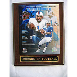 Warren Moon 'Legends of Football' Collectible Plaque