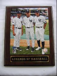 Yankee Power Legends of Baseball Plaque