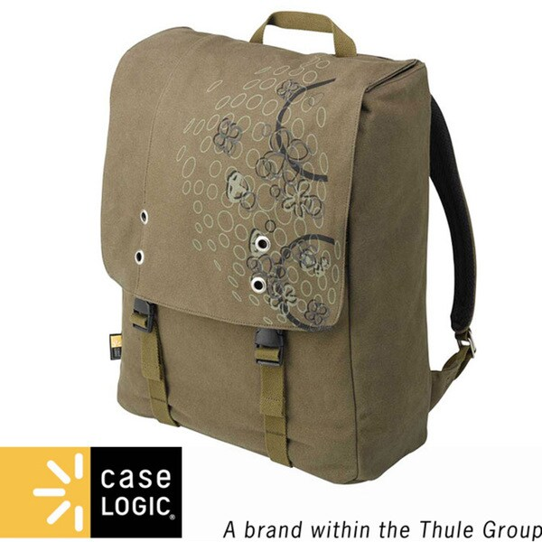 5c4ad42f44cb Shop Case Logic Green Canvas Backpack - Free Shipping On Orders Over  45 -  Overstock - 4342188