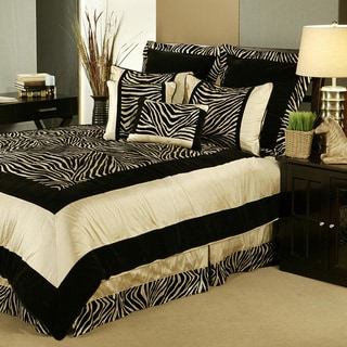 Sherry Kline 'Zuma' 7-Piece Zebra Print Comforter Set (Option: Multi)