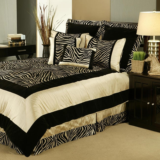 print comforter set sherry kline zuma 7piece zebra print comforter set