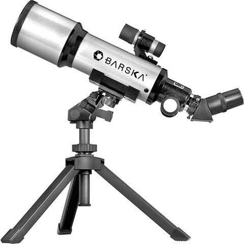 Barska 40070 Starwatcher 300-power Compact Refractor Telescope - Silver