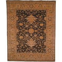 Safavieh Couture Zeigler Mahal Hand-Knotted Oushak Green/ Gold Wool Area Rug (8' x 10')