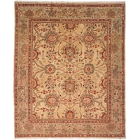 Safavieh Couture Zeigler Mahal Hand-Knotted Oushak Beige/ Green Wool Area Rug (8' x 10')