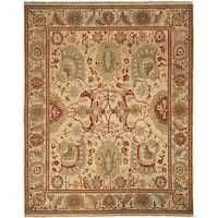 Handmade Safavieh Couture Zeigler Mahal Oushak Ivory/ Rust Wool Area Rug - 8' x 10' (China)