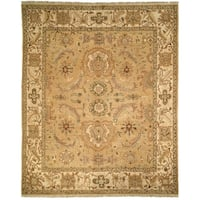Handmade Safavieh Couture Zeigler Mahal Oushak Gold/ Ivory Wool Area Rug - 10' x 14' (China, People's Republic of)