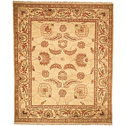 Oushak Legacy Hand-knotted Ivory Wool Rug (10' x 14')