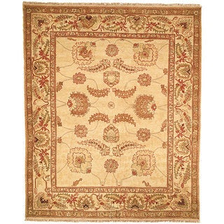 Oushak Legacy Hand-knotted Ivory Wool Rug (9' x 12')
