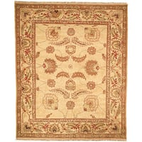 Safavieh Couture Zeigler Mahal Hand-Knotted Oushak Ivory/ Red Wool Area Rug (9' x 12')