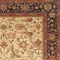 Oushak Legacy Hand-knotted Wool Heirloom Ivory/ Blue Rug (8' x 10') - Thumbnail 1