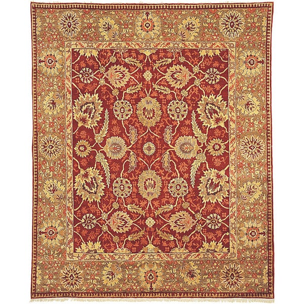 Shop Handmade Safavieh Couture Zeigler Mahal Yazd Red Green Wool