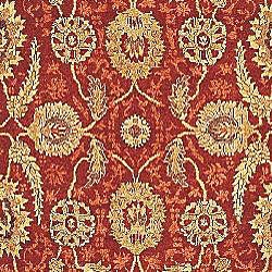Oushak Legacy Hand-knotted Red/ Green Wool Rug (8' x 10')