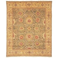Handmade Safavieh Couture Zeigler Mahal Green/ Gold Wool Area Rug - 8' x 10' (China)