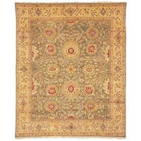 Safavieh Couture Zeigler Mahal Hand-Knotted Green/ Gold Wool Area Rug (9' x 12')