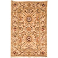 Safavieh Couture Zeigler Mahal Hand-Knotted Ivory/ Green Wool Area Rug - 6' x 9'
