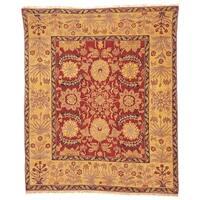 Handmade Safavieh Couture Zeigler Mahal Zardi Red/ Gold Wool Area Rug - 10' x 14' (China)