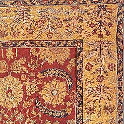 Oushak Hand-knotted Red/ Gold Wool Rug (4' x 6')