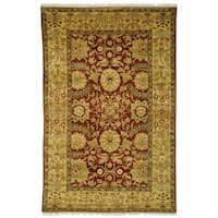 Safavieh Couture Zeigler Mahal Hand-Knotted Zardi Red/ Gold Wool Area Rug (8' x 10')