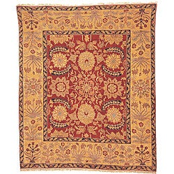 Oushak Legacy Hand-knotted Red Wool Rug (9' x 12')
