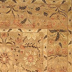 Oushak Legacy Hand-knotted Camel Wool Rug (6' x 9') - Thumbnail 1
