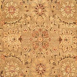 Oushak Legacy Hand-knotted Camel Wool Rug (6' x 9') - Thumbnail 2