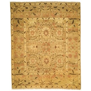 Handmade Safavieh Couture Zeigler Mahal Oushak Camel Wool Area Rug (China)