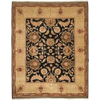 Safavieh Couture Zeigler Mahal Hand-Knotted Tabaz Black/ Ivory Wool Area Rug - 8' x 10'