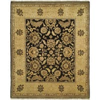 Safavieh Couture Zeigler Mahal Oushak Hand-Knotted Tabaz Black Wool Area Rug - 8' x 10'