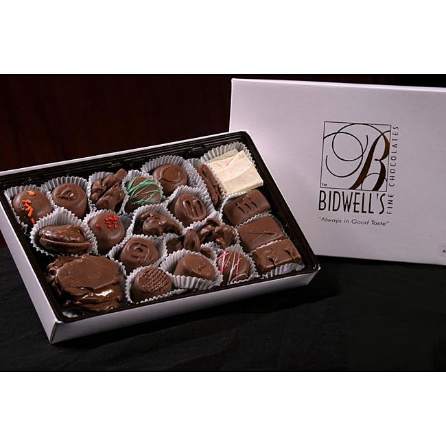 Bidwell Candies 1-pound Deluxe Chocolate Gift Box