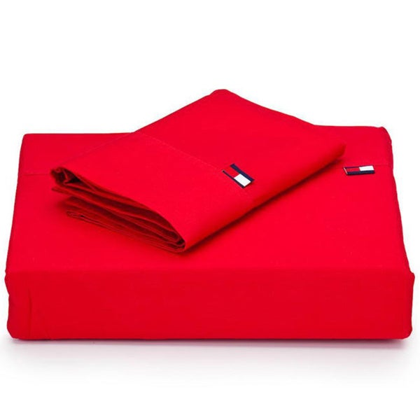 Tommy Hilfiger Cardinal Red 3-piece Sheet Set (Twin/Twin-XL)