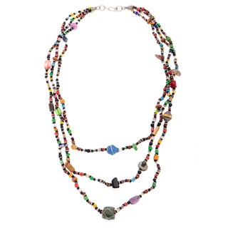 Handmade Jedando Modern Handicrafts 21-inch Beaded Success Necklace (Kenya)
