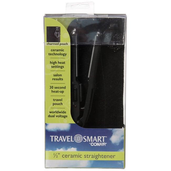Conair Travel Smart 0.5-inch Ceramic Flat Iron, Black