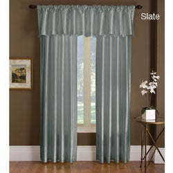 Treasure Thermal-backed Dupioni Faux Silk Curtain Panel Pair