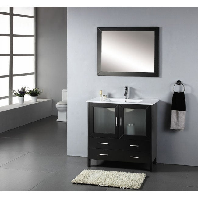 Virtu USA Felice 35.5-inch Single Sink Bathroom Vanity Set