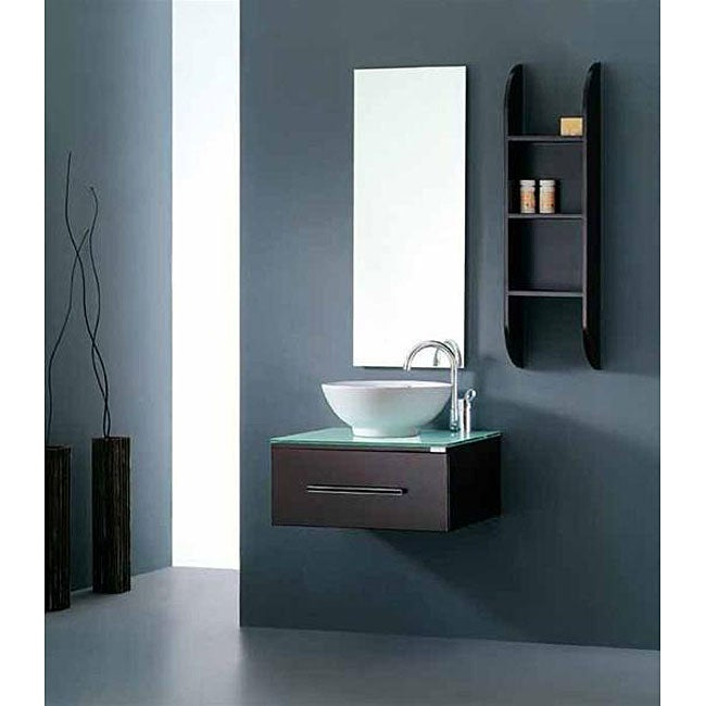 Virtu usa primo 24 inch single sink bathroom vanity set - 24 inch bathroom vanity top with sink ...
