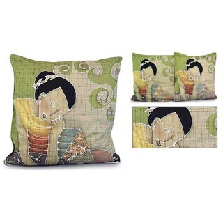 Handmade Set of Two Cotton 'Feline Life' Cushion Covers (Thailand)