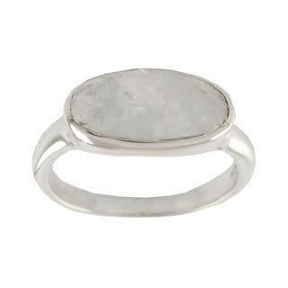 Misty Checkerboard Faceted Oval Moonstone Set In Highly Polished 925 Sterling Silver Sophisticated M