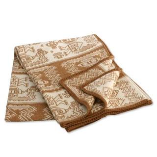 Handmade 'Paracas Coast' Alpaca Wool Blanket (Peru)