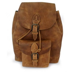 Handmade Honey Brown The Highroad Leather Backpack (Mexico)
