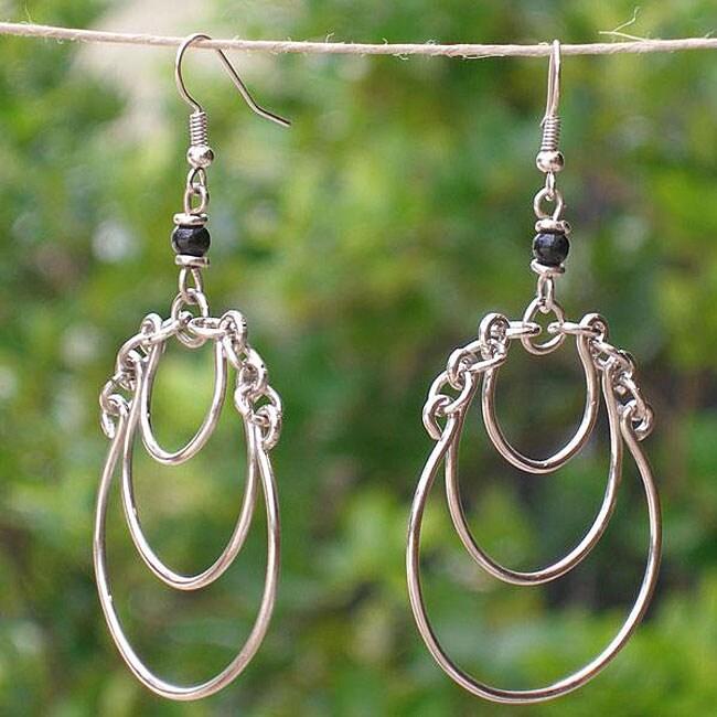 Handmade Silverplated Friendships Earrings (Kenya)