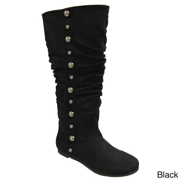 Misbehave by Adi Women's Studded Trim Slouchy Boots