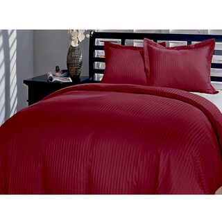 Damask Stripe 230 Thread Count 3-piece Duvet Cover Set (2 options available)