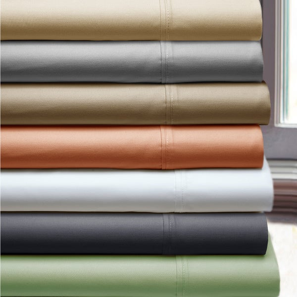 Luxury Pima Cotton 400 Thread Count Deep Pocket Sheet Set With Bonus Pillowcases