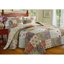 Greenland Home Fashions Blooming Prairie 3-piece Bedspread Set