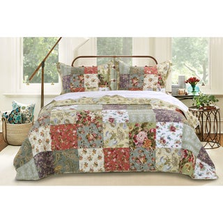 Greenland Home Fashions Blooming Prairie 3-piece Bedspread Set (4 options available)