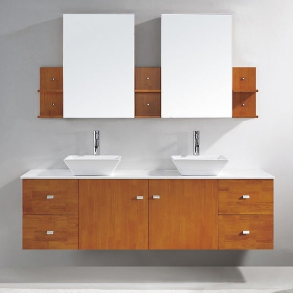 virtu usa clarissa 72 inch double sink bathroom vanity set free