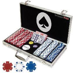 Set of 300 Professional Maverick Poker Chips with Case - Thumbnail 1