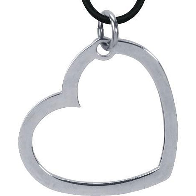 Stainless Steel Large Heart Necklace