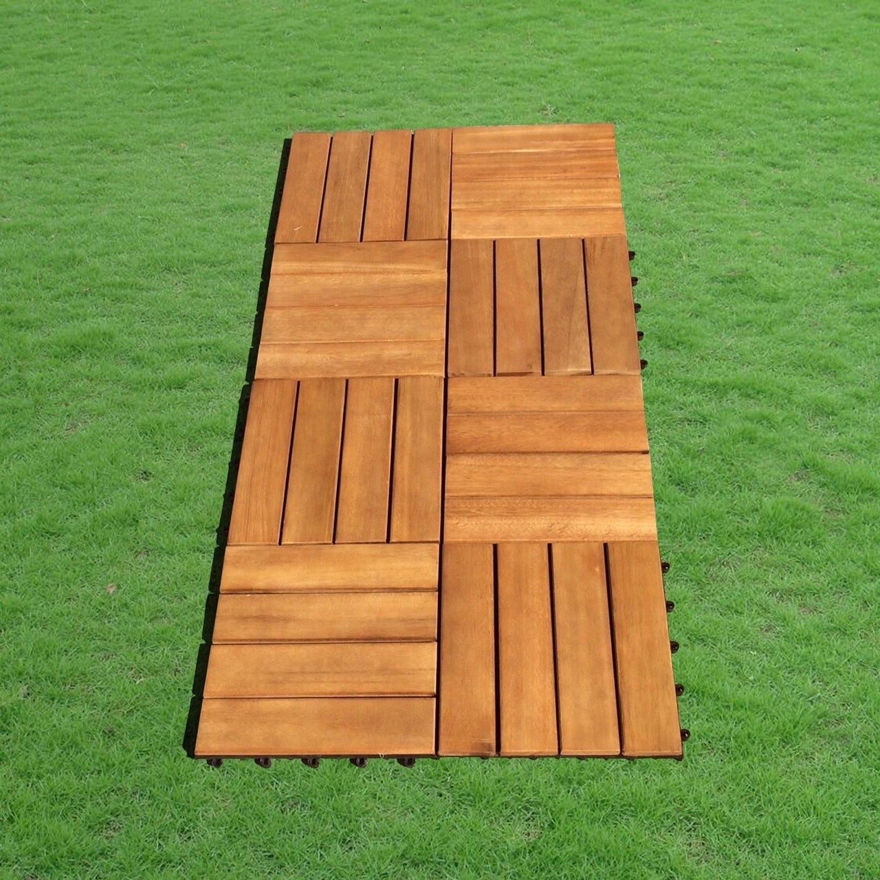 Contemporary Teak Shower Mat 30 X 30 Embellishment