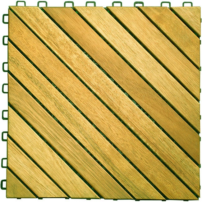 Premium Plantation Teak Tiles Box Of 10 Free Shipping